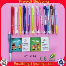 Glowing the dark cheap ballpoint pen plastic