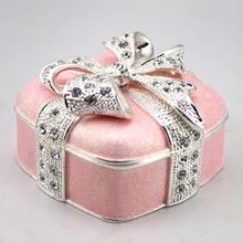 pierced earring jewelry box metal gift jewelry box pill box bracelet
