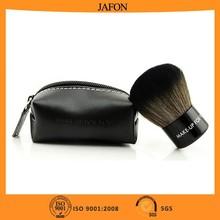 Brown nylon hair makeup brushes kabuki