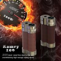 100 w mod wooden vape mods 100Watt wood box mod mechanical digital electronic cigarette Mic USB port fit 2pcs 18650 battery