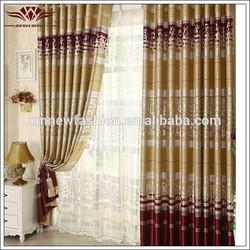 Wholesale latest design Bronzed window curtain