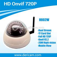 Dericam P2P H.264 ONVIF Indoor Half Dome Wireless HD 720P IP Camera H802W ,Mini Indoor CCTV Network IP Camera