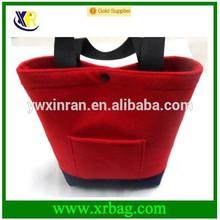 factory provide fashion Felt Fabric tote shopping bag