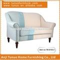 Assentos duplos sofá, Salão, Madeira de borracha, Tecido, Assento móvel almofada, Tb-9105-2