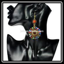 2015 New Arrival Retro Fashion Resin Pendant Dangle Bohemia Earrings Women Jewelry