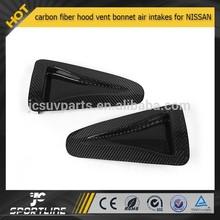 GTR R35 carbon fiber hood vent bonnet air intakes for N ISSAN 2012-2013