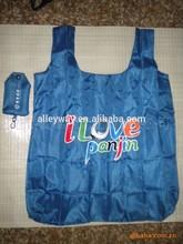 Silk printing Nylon shopping bag