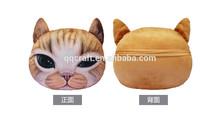 QQPET cat face soft fabric pillow & cute dog face pillow & cat face pillow