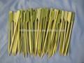 De bambú plana pincho con cáscara de color verde para barbacoa con 9cm, 10cm, 12cm, 15cm, 18cm largo tamaño, alimentos seguros de bambú palo