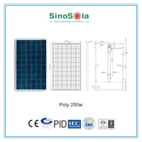 High efficiency good photovoltaic cells for sale 250w poly solar panel for solar power system home with TUV/PID/CEC/CQC/IEC/CE