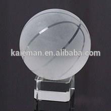 Ornament glass crystal basketball crystal football crystal glass ball