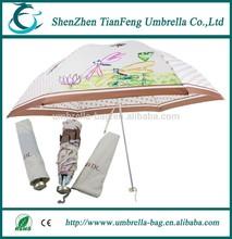 contemporary innovative two fold fiber ribs 3 folding umbrella