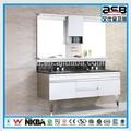 mostrador de mármol natural de acero inoxidable de lujo aseo y cuarto de baño set