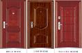 acero puerta de seguridad de la puerta de hierro para la entrada de doble hoja