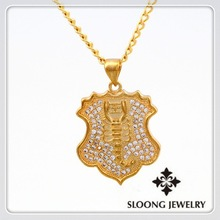2015 Fashion Shield Shaped Living Necklace Pendent