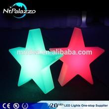 indoor and outdoor illuminated star led wedding decoration