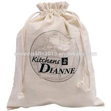 Promotional White Bags Drawstring Cotton, Shopping Drawstring Bag