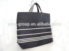 Fashionable Casual Black Jean Canvas Unisex Tote Bag
