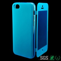 touchable phone case TPU Flip Leather Cover Case for Iphone 5C