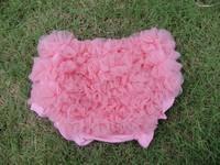 Ruffle diaper cover baby chiffon bloomers china wholesale