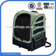 2014 hot selling green travel dog carrier backpack