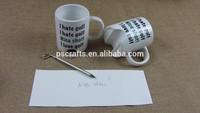 hot sell unique white ceramic golf mug,ceramic golf mug with pen and ball