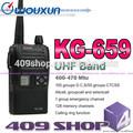 Promocional KG-659U de doble banda wouxun walkie radio comunicación