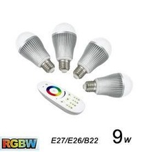 2.4G wireless wifi light bulb adapter,hue e14 9w multi-color e27 led bulb light bulb with remote with 2 years warranty