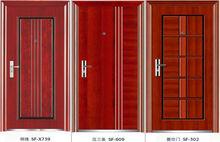 Acero puerta de hierro forjado puerta puertas con natural de madera del diseño