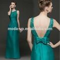 مثير فتح عودة فستان السهرة الطويلة الدانتيل الزمرد الأخضر