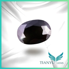Wholesale 5*7mm AAA Semi Precious Stone Oval Black Cubic Zirconia CZ stone