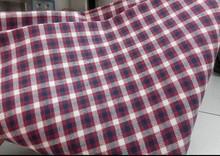 EN11611EN11612 100 cotton fireproof cheap red and white plaid mens Plaid shirt fabric