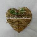 vintage pendurado coração enfeites de natal com pinhas