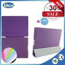 Ultra Thin Slim Light Three Fold Leather Case For apple ipad