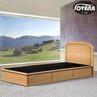 Single size luxury modern wooden bed/new arrival bedroom furniture /modern wooden bed with drawers