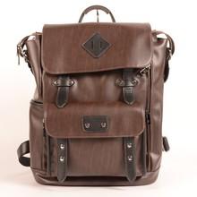 China Factory wholesale fashion design Korea PU leather laptop backpack for man