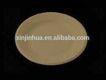 Biodegradable disposable paper plate/paper tableware