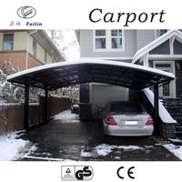Polycarbonate and aluminum carport vinyl carport