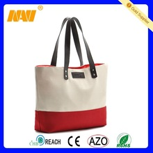 2015 hot sale new canvas bag with leather handle
