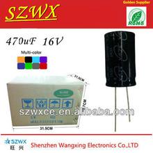 electrical condenser E-cap 470uf 16v capacitor run motor fan