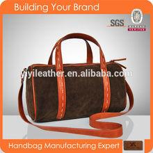 B115-hot sale suede leather holdall handbag woman fashion ladies