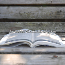 high quality acrylic book weight/clear plexiglass book shelf wholesale