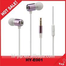 Braided cable sponge earphone