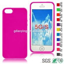 Peach color TPU stick a skin Phone case smart cover for iphone 5
