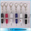 venda quente mini keychain de cristal caneta esferográfica de metal