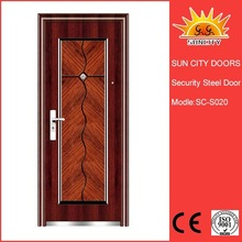 2015 Polished steel security main door design SC-S020