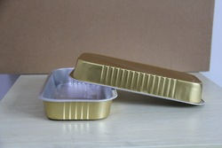 Disposable aluminum foil food container/fast food plate/BBQ tin tray