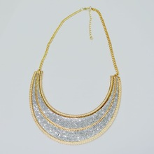 free shipping glitter alloy necklace