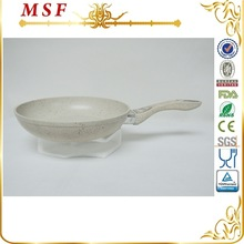 20cm marble coating interior and exterior and handle forged aluminum cooking pan