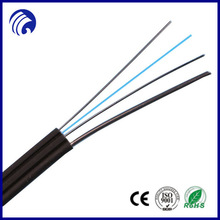 Supply butterfly self-supporting FTTH Indoor Cable fiber optical cable GJXZCH with steel wire messenger